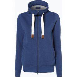 Bluzy damskie: Franco Callegari – Damska bluza rozpinana, niebieski