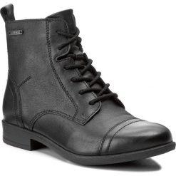 Botki LASOCKI - WI16-ENNA-01 Czarny. Czarne buty zimowe damskie Lasocki, z materiału, na obcasie. Za 199,99 zł.