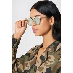 Okulary przeciwsłoneczne damskie: Le Specs Okulary przeciwsłoneczne No Smirking – Green,Silver