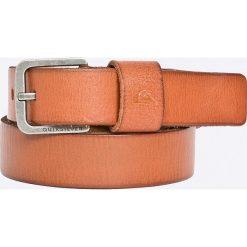 Quiksilver - Pasek skórzany. Pomarańczowe paski męskie Quiksilver, w paski, z materiału. W wyprzedaży za 89,90 zł.