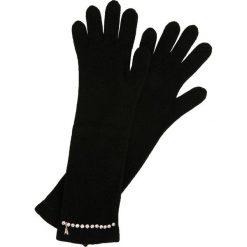 Patrizia Pepe Rękawiczki pięciopalcowe black/shiny crystal. Czarne rękawiczki damskie marki Patrizia Pepe, ze skóry. Za 359,00 zł.