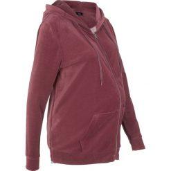 Bluza ciążowa z dzianiny welurowej nicki bonprix czerwony klonowy. Czerwone bluzy ciążowe marki bonprix, z dzianiny, z kapturem. Za 124,99 zł.