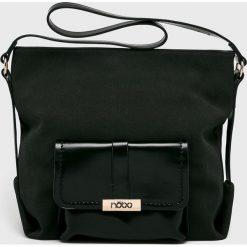 Nobo - Torebka. Czarne torebki klasyczne damskie Nobo, w paski, z materiału, duże. W wyprzedaży za 159,90 zł.