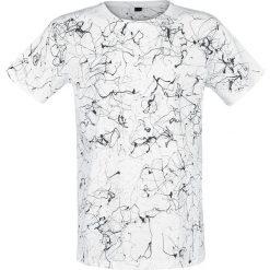 T-shirty męskie z nadrukiem: Outer Vision Dripped Black T-Shirt T-Shirt biały