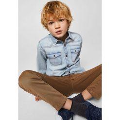 Mango Kids - Koszula dziecięca Dave 104-164 cm. Szare koszule chłopięce z długim rękawem marki Mango Kids, z bawełny. W wyprzedaży za 49,90 zł.