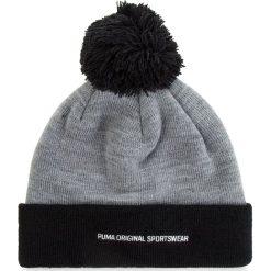 Czapka PUMA - Pom Pom Beanie 021707 03 Medium Gray Heather/Black. Czarne czapki zimowe damskie Puma, z materiału. Za 79,00 zł.