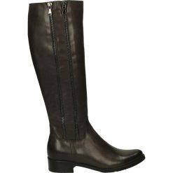 Kozaki ocieplane - 2706 429P GRI. Czarne buty zimowe damskie marki Kazar, ze skóry, na wysokim obcasie. Za 289,00 zł.