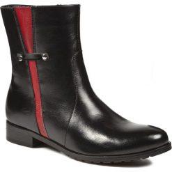 Botki NICO RARINI - 02501/71-50801 Czarny. Czarne buty zimowe damskie Nico Rarini, ze skóry, na obcasie. W wyprzedaży za 199,00 zł.