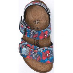 Birkenstock - Sandały dziecięce New York Spiderman Marvel. Szare sandały męskie skórzane marki Birkenstock, na klamry. Za 249,90 zł.