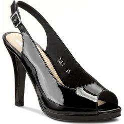 Rzymianki damskie: Sandały MATEO – 2480-6L Czarny Lakier