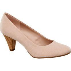 Buty ślubne damskie: czółenka damskie Graceland różowe