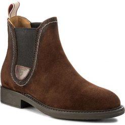 Sztyblety GANT - Lydia 15543035 Sienna Brown G480. Brązowe buty zimowe damskie GANT, z materiału. W wyprzedaży za 329,00 zł.