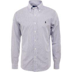 Polo Ralph Lauren NATURAL SLIM FIT Koszula black/white. Szare koszule męskie slim marki Polo Ralph Lauren, l, z bawełny, button down, z długim rękawem. Za 419,00 zł.
