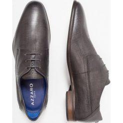 Azzaro RIVAL Eleganckie buty anthracite. Szare buty wizytowe męskie Azzaro, z materiału, na sznurówki. Za 669,00 zł.