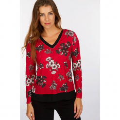 """Koszulka """"Flobike"""" w kolorze czerwonym. Czerwone bluzki nietoperze Scottage, z długim rękawem. W wyprzedaży za 68,95 zł."""