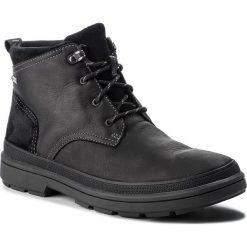 Kozaki CLARKS - RushwayMid Gtx GORE-TEX 261378587 Blk Tumbled Leather. Czarne botki męskie Clarks, z gore-texu. Za 669,00 zł.