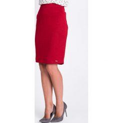 Spódniczki: Czerwona melanżowa ołówkowa spódnica QUIOSQUE