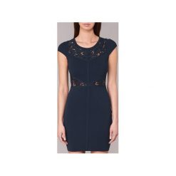Sukienki krótkie Morgan  RPANDA. Niebieskie sukienki mini marki Morgan, l, z krótkim rękawem. Za 303,20 zł.