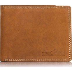 Jasny brąz SKÓRZANY PORTFEL MĘSKI Z OCHRONĄ KART RFID. Brązowe portfele męskie BLUE & BURRY, ze skóry. Za 109,00 zł.