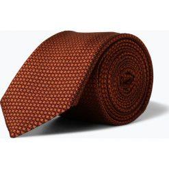 OLYMP Luxor modern Fit - Męski krawat z jedwabiu, pomarańczowy. Brązowe krawaty męskie OLYMP Luxor modern Fit. Za 129,95 zł.