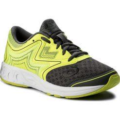 Buty ASICS - Noosa Gs C711N  Carbon/Safety Yellow/Mid Grey 9707. Szare buty do biegania damskie Asics, z materiału. W wyprzedaży za 199,00 zł.