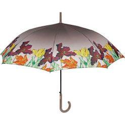 "Parasole: Parasol ""Leaves"" w kolorze szarym ze wzorem"