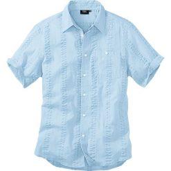 Koszula z kory bonprix jasnoniebieski. Niebieskie koszule męskie na spinki bonprix, na lato, m. Za 69,99 zł.