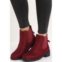Bordowe Botki Love This Way. Czerwone botki damskie saszki marki Born2be, na zimę, klasyczne, na niskim obcasie. Za 54,99 zł.