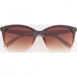 Okulary przeciwsłoneczne - Brązowy. Szare okulary przeciwsłoneczne damskie lenonki marki ORAO. Za 39,99 zł.