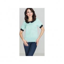 Bluzka K088 Mięta. Zielone bluzki damskie Lenitif, m, z materiału, eleganckie, z krótkim rękawem. Za 79,00 zł.