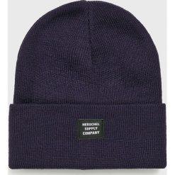 Herschel - Czapka. Czarne czapki zimowe męskie Herschel, z dzianiny. Za 99,90 zł.