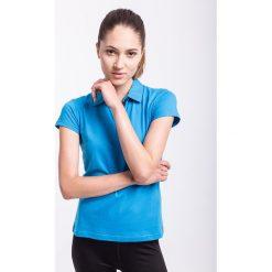 Koszulka polo damska TSD050z - niebieski jasny - 4F. Niebieskie bluzki sportowe damskie 4f, na jesień, l, z bawełny. Za 49,99 zł.
