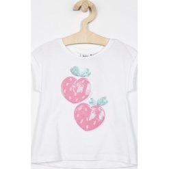 Blukids - Top dziecięcy 98-128 cm. Różowe bluzki dziewczęce marki Mayoral, z bawełny, z okrągłym kołnierzem. Za 39,90 zł.