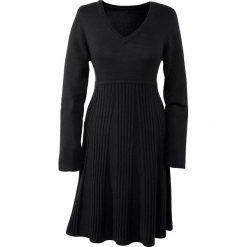 Sukienki: Sukienka dzianinowa bonprix czarny