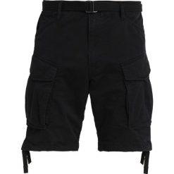 GStar ROVIC QANE BELT LOOSE 1/2 Szorty dark black. Czarne bermudy męskie G-Star, z bawełny. Za 419,00 zł.