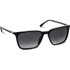 Okulary przeciwsłoneczne damskie aviatory: Okulary przeciwsłoneczne BOSS – 0959/S Black 807