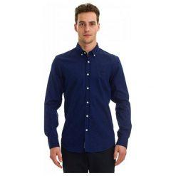 Galvanni Koszula Męska Namur L Ciemny Niebieski. Niebieskie koszule męskie GALVANNI, l, w kropki. W wyprzedaży za 219,00 zł.
