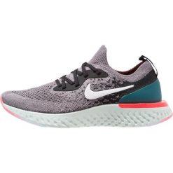 Nike Performance EPIC REACT FLYKNIT Obuwie do biegania treningowe gunsmoke/white/black/geode teal/hot punch. Szare buty do biegania damskie marki Nike Performance, z materiału. Za 549,00 zł.