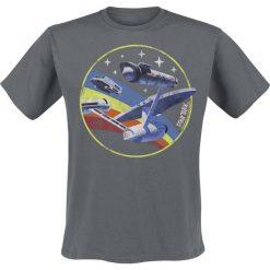 T-shirty męskie z nadrukiem: Star Trek Rainbow Enterprise T-Shirt szary
