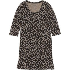 Koszula nocna bonprix czarno-brunatny wzorzysty. Czarne koszule nocne i halki bonprix, z bawełny. Za 34,99 zł.