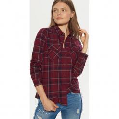Koszula z kieszeniami - Bordowy. Czerwone koszule damskie marki Cropp, l. Za 69,99 zł.