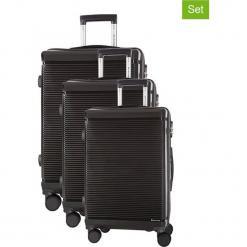 Zestaw walizek w kolorze szarym - 3 szt. Szare walizki marki Platinium, z materiału. W wyprzedaży za 699,95 zł.