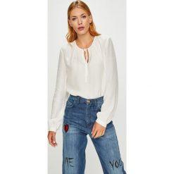 Calvin Klein - Bluzka. Szare bluzki z odkrytymi ramionami marki Calvin Klein, z materiału. Za 359,90 zł.