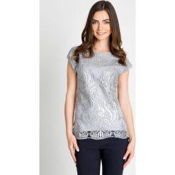 Bluzki damskie: Srebrna bluzka z cekinowym wzorem QUIOSQUE