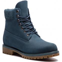 Trapery TIMBERLAND - Premium 6 In Waterproof Boot TB0A1UEU431 Navy Nubuck. Niebieskie botki męskie Timberland, z materiału. W wyprzedaży za 569,00 zł.
