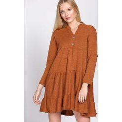 Sukienki: Jasnobrązowa Sukienka Rectangle