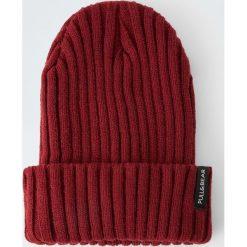 Akcesoria męskie: Bordowa czapka z cienkiej dzianiny