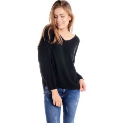 Swetry klasyczne damskie: Sweter - 8-839B NERO