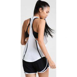 Nike Performance FLOW Koszulka sportowa white/black. Białe topy sportowe damskie marki Nike Performance, xl, z materiału. W wyprzedaży za 127,20 zł.