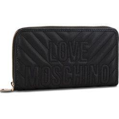 Duży Portfel Damski LOVE MOSCHINO - JC5585PP06KI0000  Nero. Czarne portfele damskie Love Moschino, ze skóry ekologicznej. Za 429,00 zł.